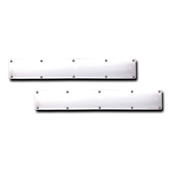 """Stainless Steel Square Cut Bottom Mud Flap Weight Pair - 24"""" x 4"""" With Extra Holes"""