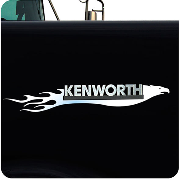 Kenworth Stainless Steel Flaming Eagle Emblem Trim
