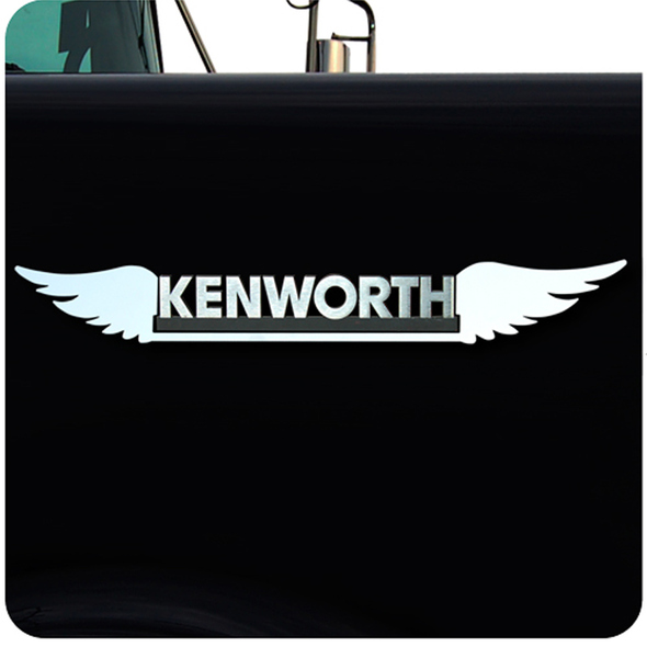 Kenworth Stainless Steel Double Wing Emblem Trim
