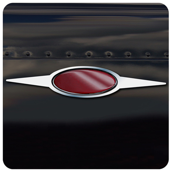 Peterbilt Stainless Steel Double Dagger Emblem Trim