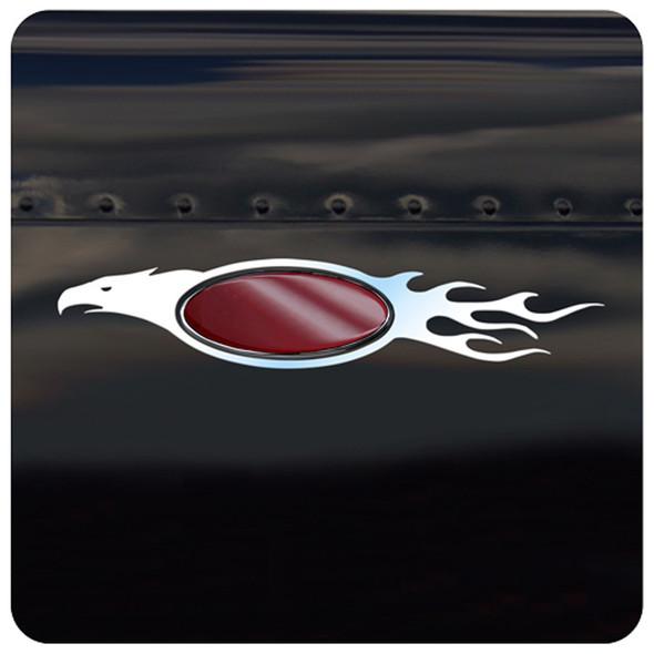 Peterbilt Stainless Steel Flaming Eagle Emblem Trim