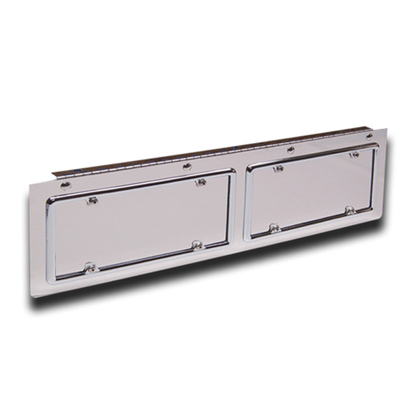 Hinged Stainless Steel Double License Plate Holder