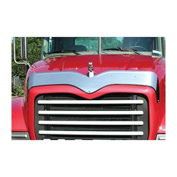 Mack Granite CV Hood Shield Bug Deflector On Truck