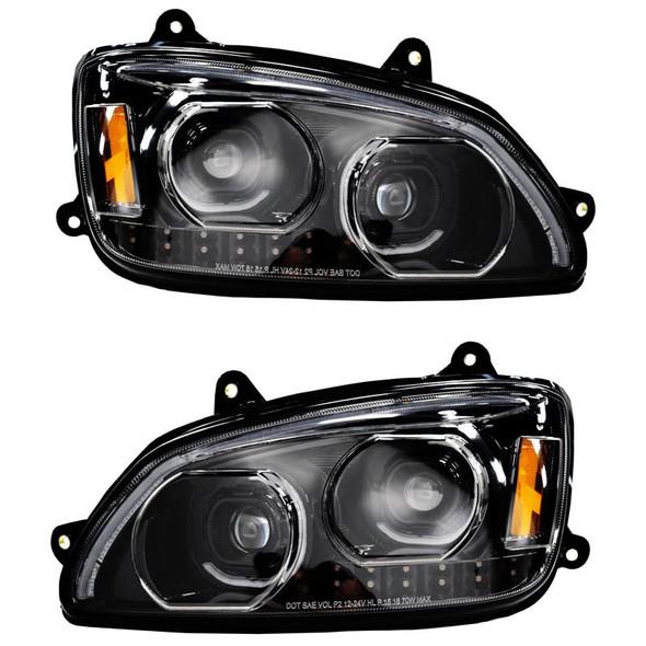 Kenworth T660 Chrome Full LED Headlights - Both Sides Off