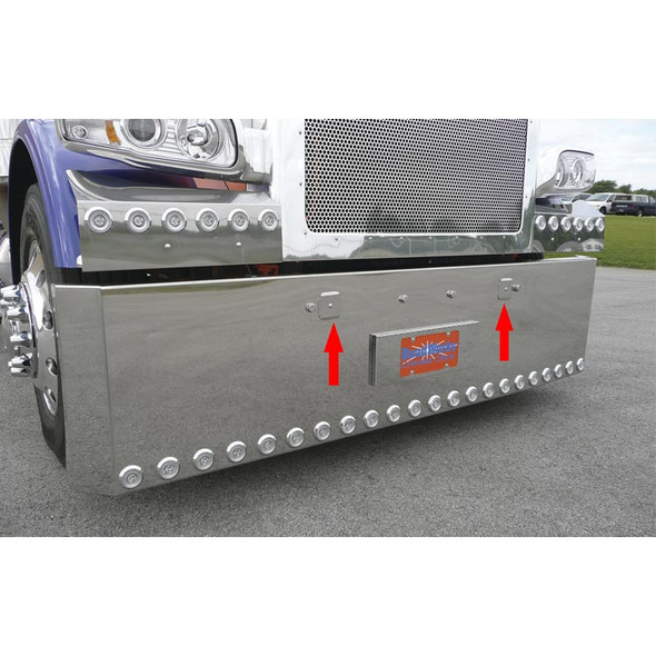Peterbilt 388 389 Stainless Steel Tow Pin Covers With Arrows