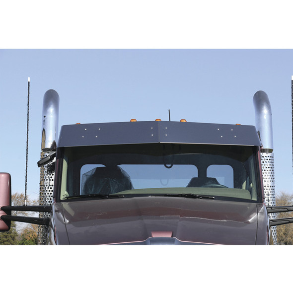 """Kenworth T680 T880 W990 11"""" Drop Visor For Factory Stainless"""