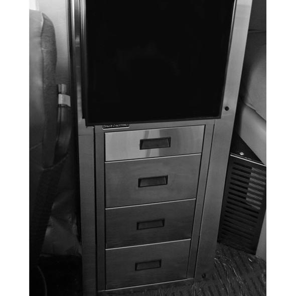 Kenworth W900 Refrigerator Storage Solution Brushed Stainless Steel