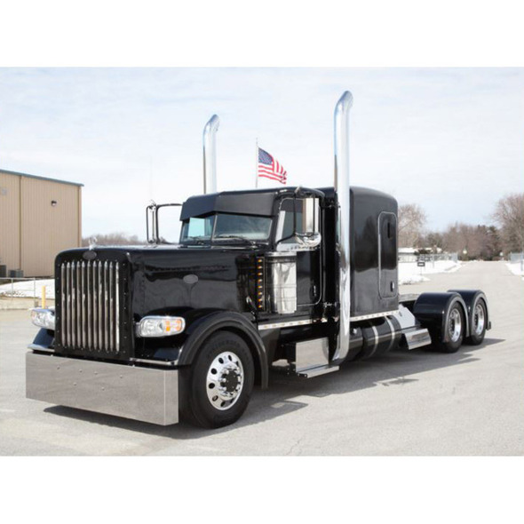 Peterbilt 359 379 388 389 567 Stainless Steel Bumper By Roadworks