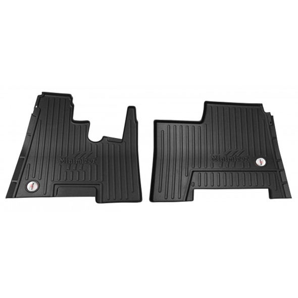 Kenworth W900 T800 T600 Minimizer Thermoplastic Floor Mat - Automatic Transmission With Passenger Seat Storage Box