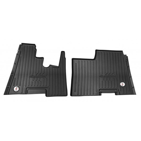 Kenworth W900 T800 T600 Minimizer Thermoplastic Floor Mat - Automatic Transmission With Passenger Bench Seat