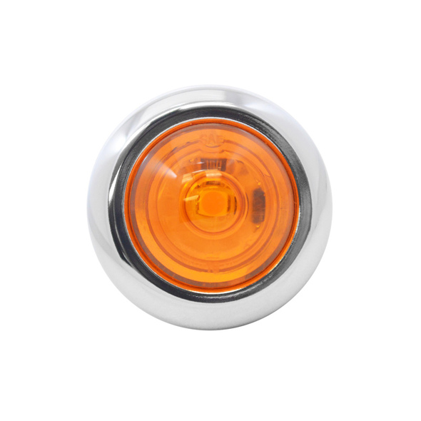 """3/4"""" Round Amber LED Clearance Marker Light"""