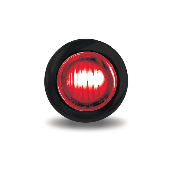 """Mini Button 3/4"""" LED Marker Light With Grommet - Red"""