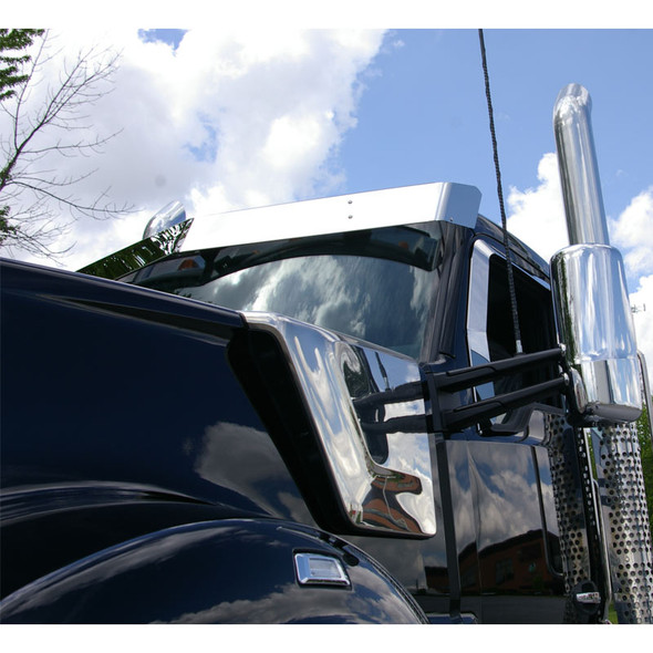 """Kenworth T680 T880 W990 Day Cab 8"""" Drop Visor Front View"""