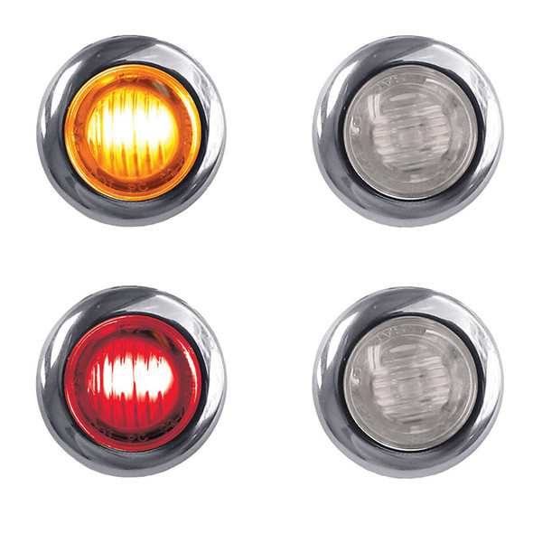 """3/4"""" Clearance Marker Light With Bezel 3 LED Diodes"""