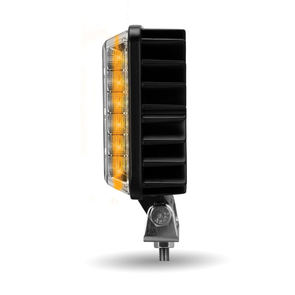 "4.25"" Square 'Strobe Series' Universal LED Spot Beam Work Light Side View"
