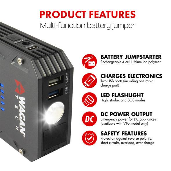 iOnBoost V10 Torque Jump Starter & Charging Station Features