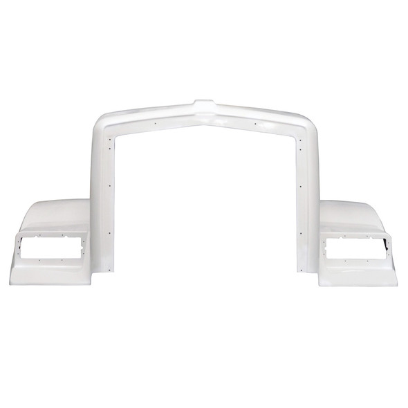 Kenworth T800 1995-2006 With Split Fender & Curved Cowl Hood Front View