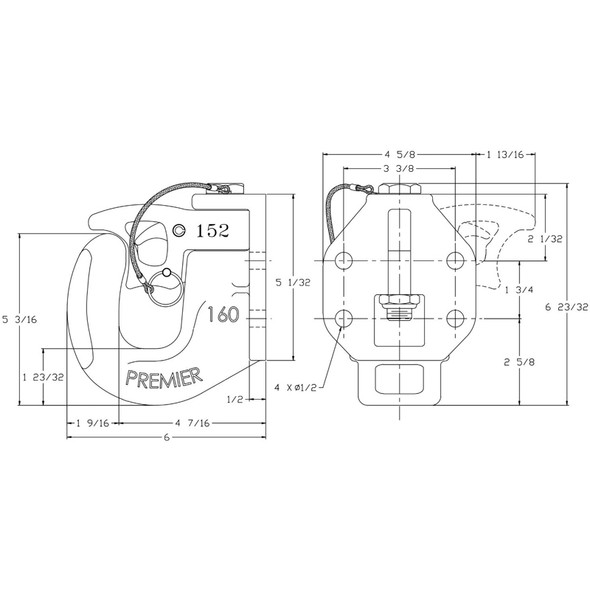 160 Compact Profile Coupling Dimensions