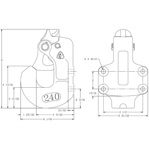 240 Coupling Dimensions