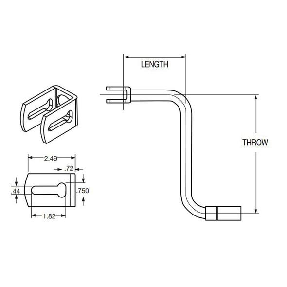 Steel Trailer Landing Gear Sidewind Horizontal Folding Crank Handle - Diagram