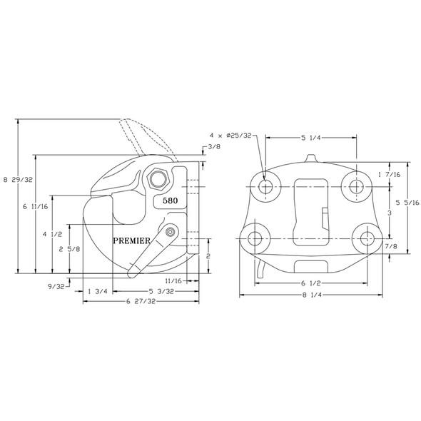 580 Premalloy Coupling Dimension