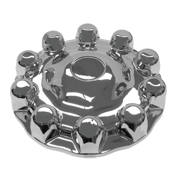Alcoa Style Chrome One-Piece Front Hub Axle Cover System 086100S