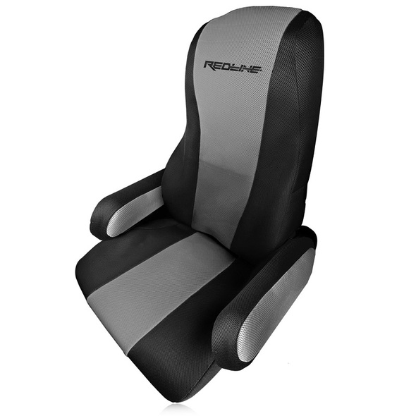 Freightliner Cascadia Seat Cover Grey and Black by Redline