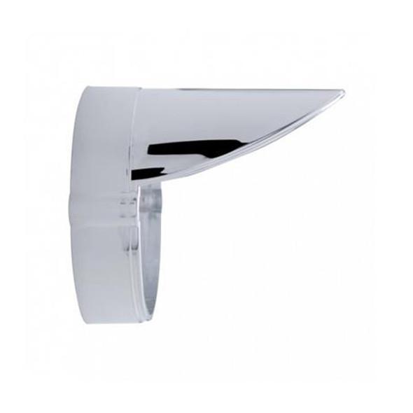Chrome LED Grakon 1000 Style Cab Light Bezel With Visor - Profile View