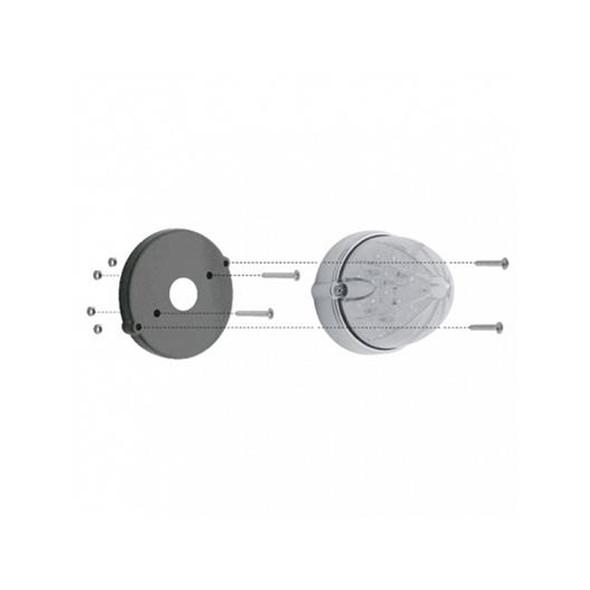 Chrome LED Grakon 1000 Style Light Bezel Base - Screws
