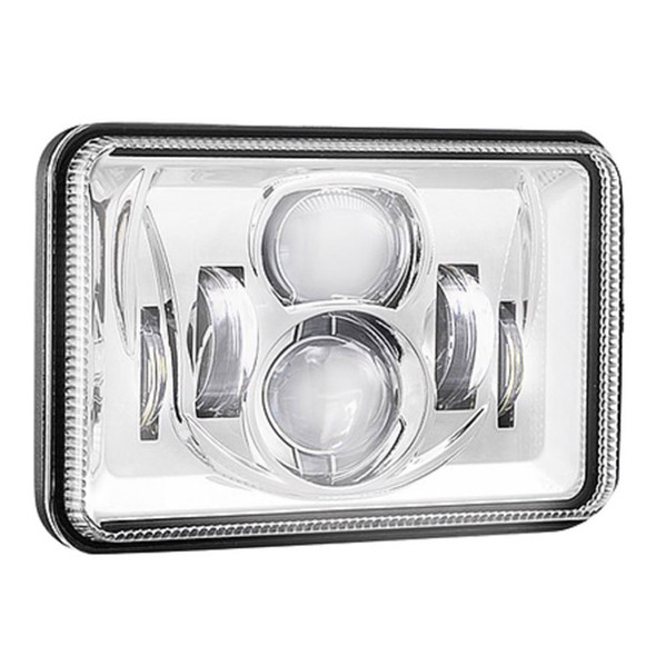 """4"""" x 6"""" LED Combination High & Low Beam Projector Headlight - On"""