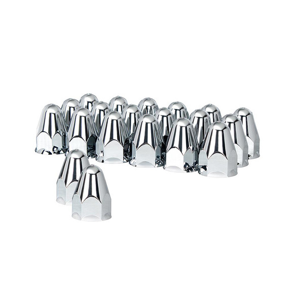 """20 Pack of Chrome 1 1/2"""" Push On Slotted Bullet Nut Cover"""