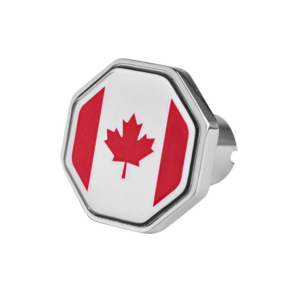Canada Flag Tractor Trailer Air Brake Knob - Octagon