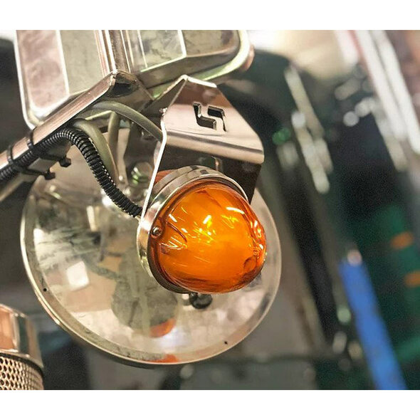 Mirror Turn Signal Bracket Kit With Watermelon LEDs GLO Off