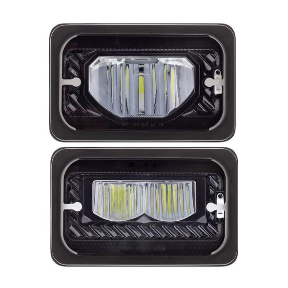 "4""x6"" High Power LED Heating Light Black High Beam Both"