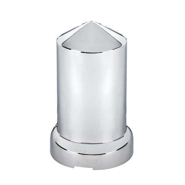 20 Pack of Chrome 33mm Push On Pointed Nut Covers Single