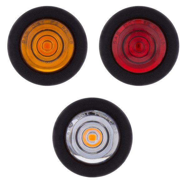 1 LED Mini Clearance Marker Light With Rubber Grommet - Default LEDs Off