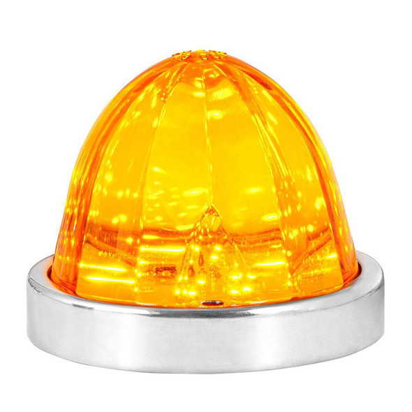 18 LED Classic Style Watermelon Surface Mount Light By Grand General Orange Amber With Base Front View