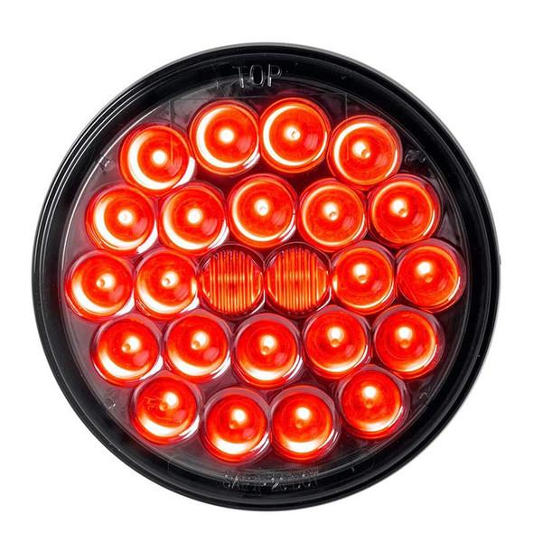 "4"" 24 Pearl LED Light STT Clearance Red Smoke Lens"