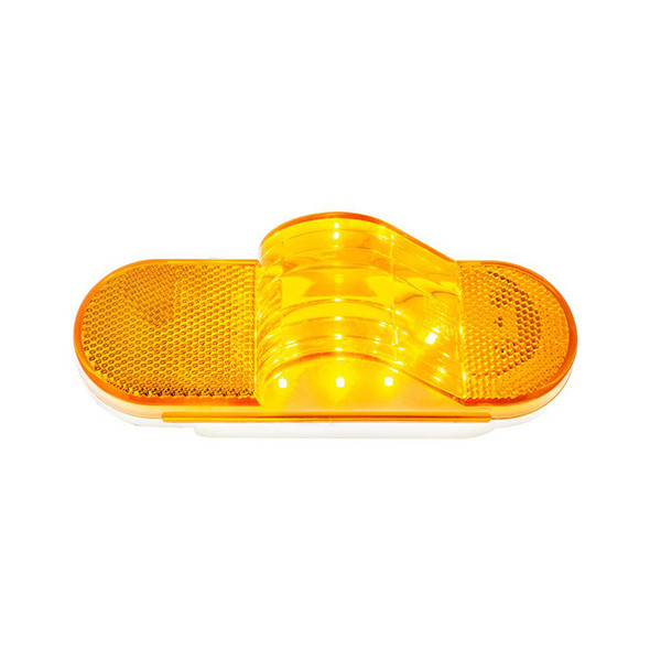 8 Amber SMD LED Mid Trailer Turn Signal Light Top Down View On Side