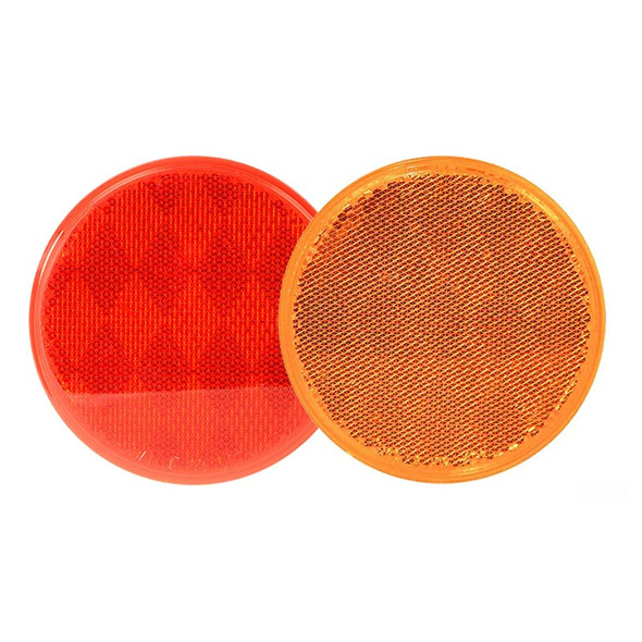 """3"""" Round Stick On Reflector With Adhesive Tape By Grand General"""