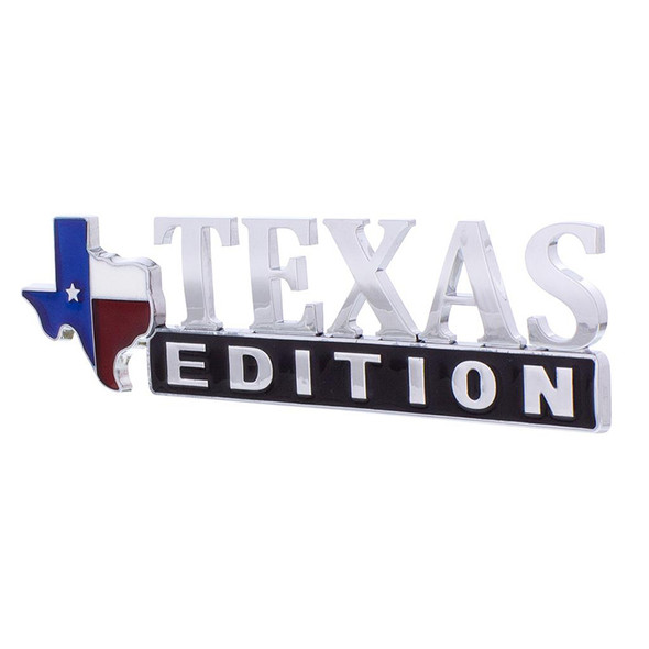 Chrome Plated Plastic Texas Edition Accent Emblem Side View