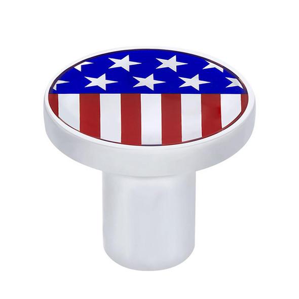 Chrome US Flag Emblem Air Valve Knob