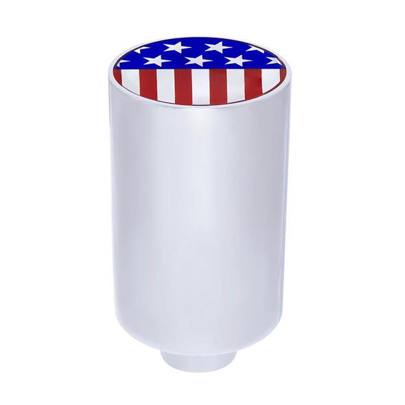 """3"""" Chrome US Flag Emblem Air Valve Knob"""
