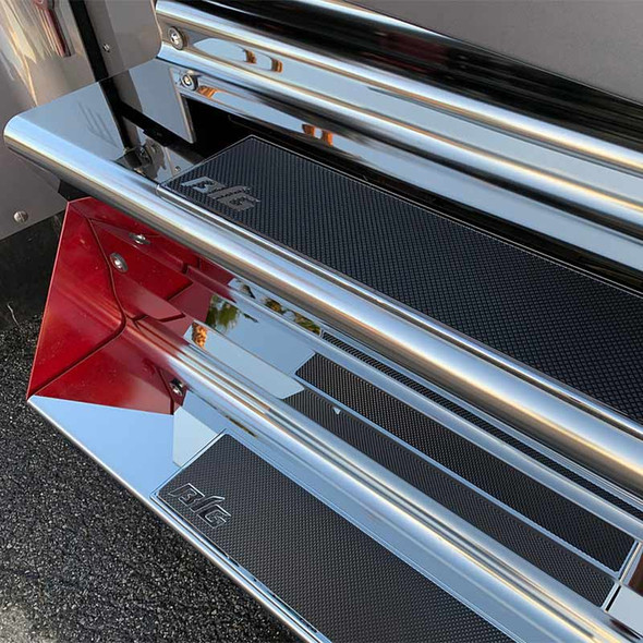 Chrome Plated Step Pad Kit By Big Strappers Passenger
