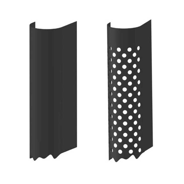 "5"" Stainless Steel Aerodynamic Stack Guard Heat Shield 60"" Long - Default"
