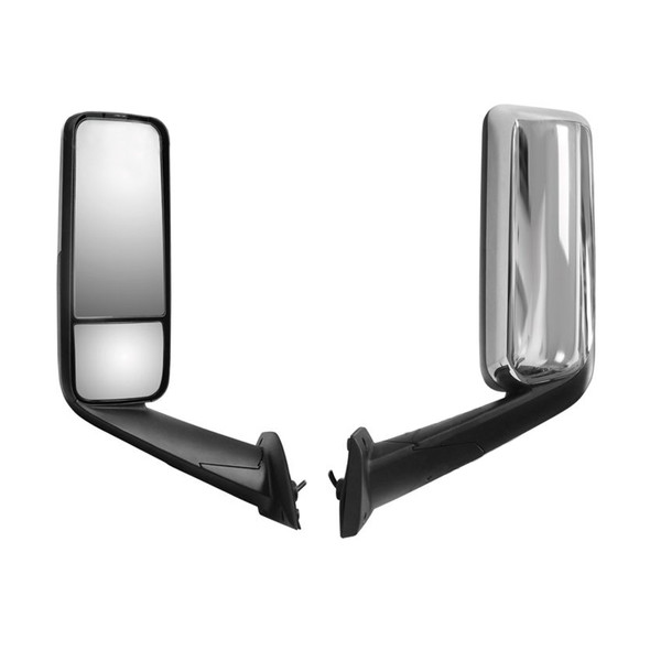 Freightliner Cascadia 2018+ Chrome Heated & Motorized Mirror Assembly - Driver Side