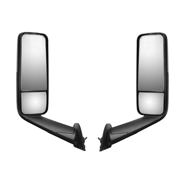 Freightliner Cascadia 2018+ Chrome Heated & Motorized Mirror Assembly - Both Sides