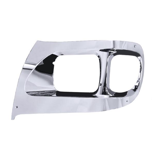 International 9900 Chrome Headlight Bezel - Driver Side