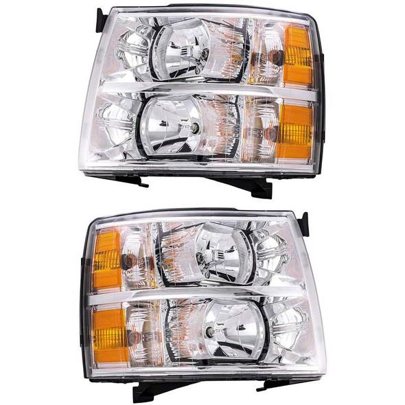 Chevrolet Silverado Headlight Assembly (Pair)