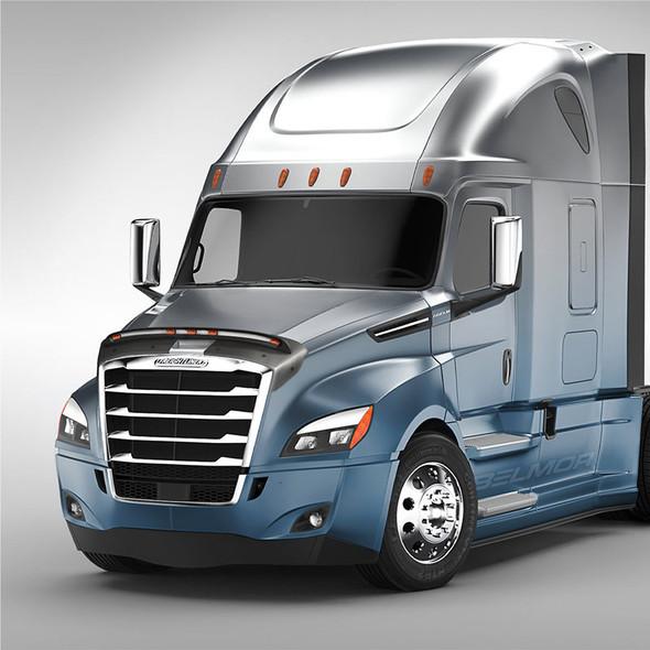 Freightliner Cascadia Lightshield (Installed - 2018 & Newer Body Style)